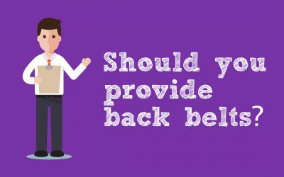 Should you provide back belts?